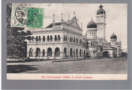 MALAYSIA The Government Offices In Kula Lumpur Ca 1910 OLD POSTCARD 2 Scans - Malaysia