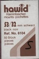 Paquet De 50 Pochettes Noires Hawid Simple Soudure Format 53 X 32  à  - 50% - Mounts