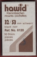 Paquet De 50 Pochettes Noires Hawid Simple Soudure Format 32 X 53  à  - 50% - Mounts