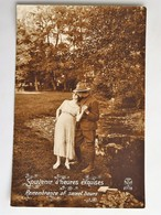 C.P.A. :  FANTAISIE : Soldat Avec Femme : Souvenir D'heures Exquises, Remembrance Of Sweet Hours - Femmes