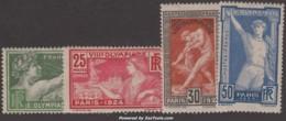 Série JO De 1924 Neufs * TB ( Y&T N° 183 à 186, Cote 51€) - France