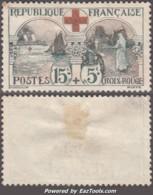 15c+5c Croix Rouge Neuf (*) Sans Gomme TB ( Y&T N° 156, Cote *: 140€) - Ungebraucht