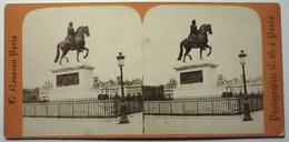 STATUE DE HENRI IV - PARIS - Stereoscopic