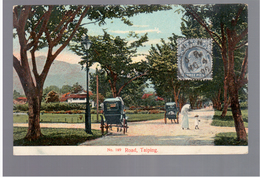 MALAYSIA Road Taiping Carriages Ca 1910 OLD POSTCARD 2 Scans - Malaysia