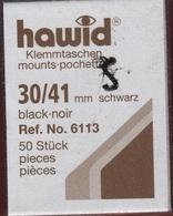 Paquet De 50 Pochettes Noires Hawid Simple Soudure Format 30 X 41  à  - 50% - Mounts