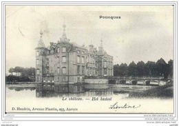POUCQUES ..-- AALTER ..-- Le Château . 1904 De NEVELE Vers BEAUMONT ( Melle Marguerite BRICUSSE ) . Voir Verso . - Aalter