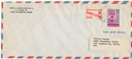Haiti Air Mail Cover Sent To USA 1961 REFUGEE Stamp - Haiti