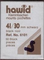 Paquet De 50 Pochettes Noires Hawid Simple Soudure Format 41 X 30  à  - 50% - Bandes Cristal