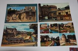 VANNES - Lot 7 CPM 56 - La Poterne; Les Remparts; Porte Prison;St Vincent; Lavoirs;Cathédrale; ...... - Vannes