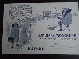 CANADIENNE MONGOLIE.../ BUVARD PLIE EN DEUX EN SON MILIEU - Buvards, Protège-cahiers Illustrés