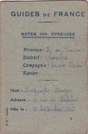 SCOUTISME GUIDES De FRANCE Notes Des épreuves Versailles Savate Claire BERGER Marguerite 1941 Aspirante - Scouting