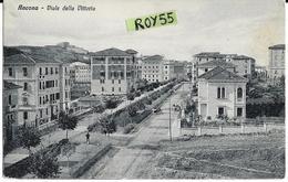 Marche-ancona Viale Della Vittoria Veduta Panoramica Particolare Viale Strada Sterrata Primi 900 - Ancona