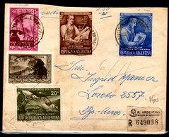 Argentina-00280 - Bella Raccomandata Con Francatura Commemorativa. - Argentina