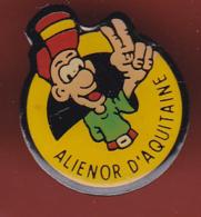 54664- Pin's Aliénor D'Aquitaine .reine.roi. - Celebrities