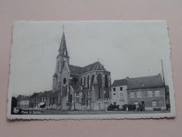 Place Et Eglise HAM-sur-Heure ( Quertinmont ) Anno 1960 ( Zie Foto Details ) ! - Ham-sur-Heure-Nalinnes