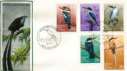 PAPOUASIE.  Martins-Pêcheurs De Papouasie.  FDC's  De 1981 - Climbing Birds