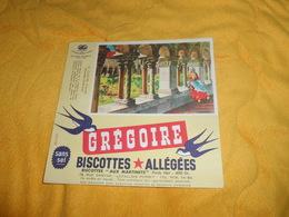 BUVARD ANCIEN DATE ?. / GREGOIRE BISCOTTES ALLEGEES. / LE CLOITRE D'ELNE PYRENEES ORIENTALES - Buvards, Protège-cahiers Illustrés