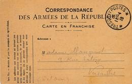CPA - Themes - Militaria - France -  Correspondance Des Armée De La République - 1918 - Autres