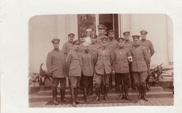 CP Photo Avril 1915 Officiers Allemands, Hôpital Militaire, Feldlazarett 7 (A201, Ww1, Wk 1) - Guerre 1914-18
