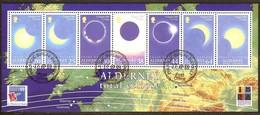 Alderney Aurigny 1999 Yvertn° Bloc 6 (o) Oblitéré  Cote 11,00 Euro Eclipse Solaire - Alderney