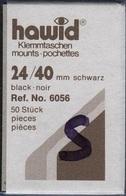 Paquet De 50 Pochettes Noires Hawid Simple Soudure Format 24 X 40 à - 50% - Bandes Cristal