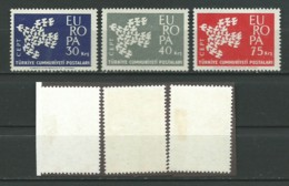 TURQUIE: *, N°YT 1599 à 1601, Série Europa, TB - Unused Stamps