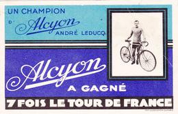 """CPA Publicitaire Publicité André LEDUC Sur Cycle """"ALCYON"""" Tour De France Vélo Bicyclette Cyclisme Cycling Radsport - Cyclisme"""