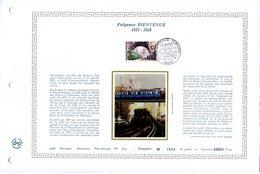 """"""" FULGENCE BIENVENUE / METRO / TRAMWAY. """" Sur Feuillet DAP 1er Jour Rare (4000 Ex) De 1987 N° YT 2452 Parfait état - Tramways"""