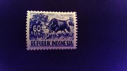 Indonésie Indonesia 1956 Animal Buffle Buffalo Yvert 124A ** MNH - Indonesien