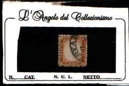 73161) ITALIA- Tipo Di Sardegna Dentellati - 1862-10C.BISTRO GIALLASTRO-USATO - 1861-78 Vittorio Emanuele II