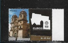 Peru 2009, Cusco World Heritage, 25 Years, Building, Places Scott 1696 - Perú