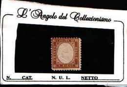 73162) ITALIA- Tipo Di Sardegna Dentellati - 1862-10C.BISTRO GIALLASTRO-SENZA GOMMA - 1861-78 Vittorio Emanuele II