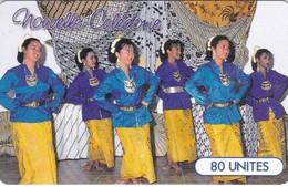 """New Caledonia, NC-055, Groupe De L'""""A.I.N.C."""", Dancers, 2 Scans.   GEM1A (Symmetric Black) - New Caledonia"""