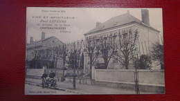 Château Thierry 10 Avenue De La Gare Pub Vins Et Spiritueux Voyagée  Non Timbrée Bon état - Chateau Thierry