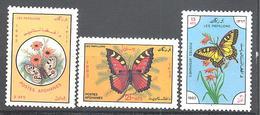 Afghanistan: Yvert N° 1121/1123**; MNH; Papillons - Afghanistan