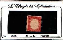 73164) ITALIA- Tipo Di Sardegna Dentellati - 1862-40C.ROSSO CARMINIO-MLH* - 1861-78 Vittorio Emanuele II