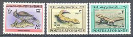 Afghanistan: Yvert N° 786-804-805**; MNH;  Oiseaux; Lezard - Afghanistan