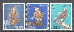 Abu Dhabi: Yvert N° 12/14**; MNH; Faucons - Timbres