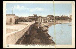 Port Aux Poules: La Fontaine Et La Plage - Algérie