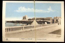 Port Aux Poules: La Fontaine Et Le Port - Algérie