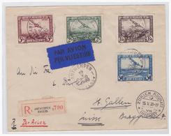 Belgien (003788) Einschreiben Luftpost Gelaufen Antwerpen über Zürich (Flugplatz) Nach ST. Gallen (Schweiz) - Belgien