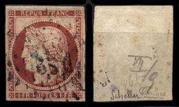 France N° 6 Obl. Losange DS2 - Signé Calves/Scheller - 1er Choix - Cote 1000 Euros - 1849-1850 Ceres