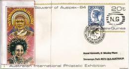 PAPOUASIE. Entier Postal Papua New Guinea, Avec Timbre Queensland (Australie) - Papouasie-Nouvelle-Guinée