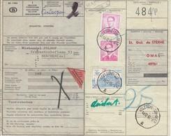 1067 + 1069 Met Stempel Hollogne Sur Geer Op Spoorwegdocument - 1953-1972 Brillen
