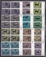 1970 San Marino Saint Marin ZODIACO  ZODIAC 4 Serie Di 12v .in Quartina MNH** Bl.4 - Astrologia