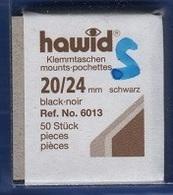 Paquet De 50 Pochettes Noires Hawid Simple Soudure Format 20 X 24 à - 50% - Mounts