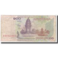 Billet, Cambodge, 100 Riels, 2001, KM:53a, B - Cambodia