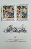 O) 1988 CZECHOSLOVAKIA, PRAGA 1988-TURIN-MONTE SUPERGA-PAINTING OF JOSEF NAVRATIL-POSTAL MUSEUM, FRUITS, MNH - Czechoslovakia