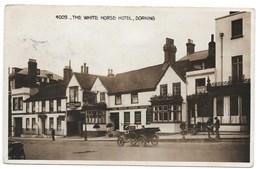 REAL PHOTO POSTCARD - DORKING  - THE WHITE HORSE HOTEL --- B362 - Surrey