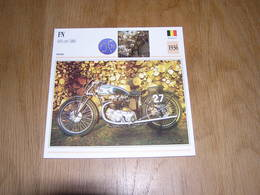FN 600 Cm3 M86 1936  Fabrique Nationale Liège Belgique Moto Fiche Descriptive Motocyclette Motos - Sammelkarten, Lernkarten